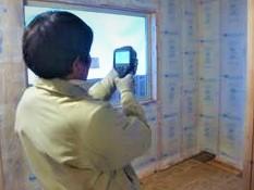 『空色の家』断熱・防水シート検査